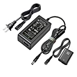 Gonine AC-PW20 AC Adapter ACPW20 Power Supply NP-FW50 Dummy Battery DC Coupler Kit for Sony Alpha A6000 A6100 A6400 A6500 A6300 A5100 A7 A7II A7RII A7SII A7S A7R RX10 II IV NEX Cameras.