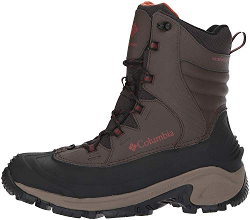 Columbia Men's Bugaboot III Snow Boot, Black/Bright Red, 8.5