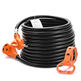 MICTUNING Heavy Duty 30 Amp RV Extension Cord with Handle and Cord Organizer - 30 Feet, 10 Gauge, 125V, 3750W