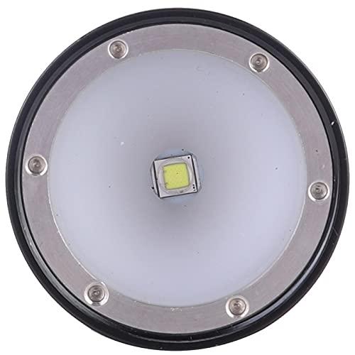 Gaeirt Luz de Relleno subacuática Impermeable Negra para Buceo Nocturno(Q11)
