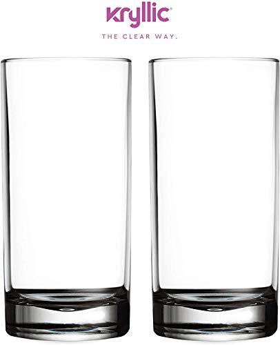 Kunststoffbecher Trinkglas Acrylglas Plastikbecher Mehrweg - Kryllic 2 Plastik Becher Set Trinkbecher Plastik Acryl Glas Kunststoff Becher Wasserglas Camping Tasse