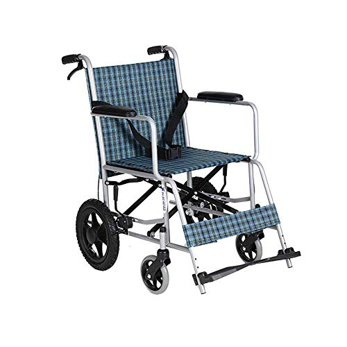 ZHITENG Wheelchair,Manual Wheelchair Portable Folding Lightweight Elderly Wheelchair Disabled Scooter Care Car Swing Away Footrests hjhghfggdf/Steel P