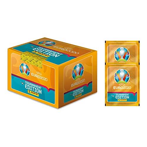 2020 Panini Euro Tournament Edition Stickers - 100-Pack Box + 2 Bonus Packs (Total of 510 Stickers)