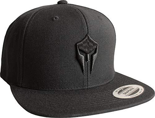 Cap: Sparta - Snapback Flexfit - Basecap - Urban Streetwear - Männer Mann Frau-en - Baseball-cap - Hip-Hop Rap - Mütze - Kappe - Spartan Train Hard - Retro - Gym (Schwarz)