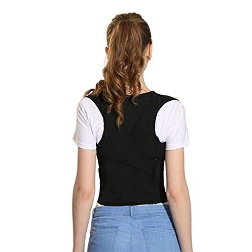 SUNQQA Erwachsene Kinder Zurück Körperhaltung Korrektor Therapie Korsett Spine Stützgürtel lumbalen Rücken Haltung Korrektur Bandage Rückenstützgurt (Color : Basic, Size : XXXL)