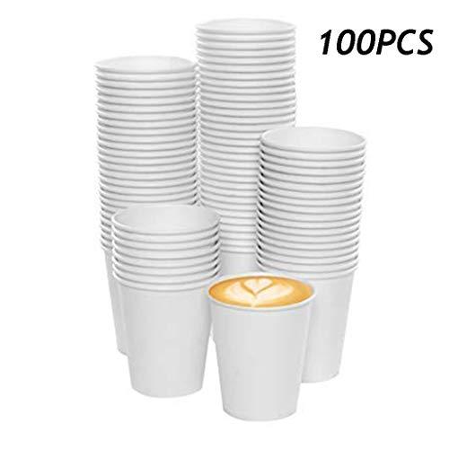 100 stuks wegwerp bekers witte kartonnen Hot Koude Drank Paper Cups Home Winkel Coffee Beverage Drinking Cup Gobelet jetable