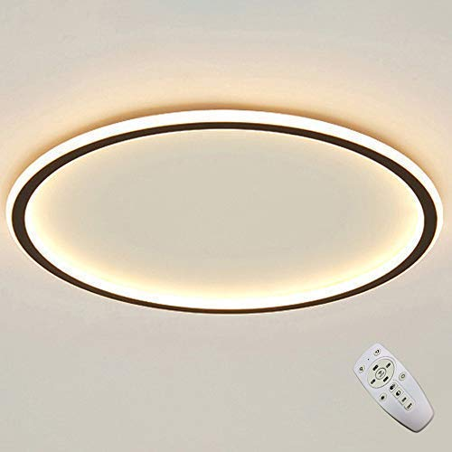 LED Runde Deckenleuchte Dimmbare Fernbedienung Deckenlampe Kreis Ring Leuchte Moderne Mode Hause Wohnzimmer Lampe Kreative Schlafzimmer Arbeitszimmer (60CM)