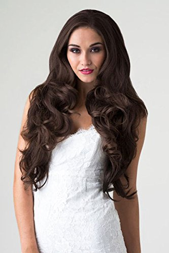 3/4 or Half Wig Hairpiece, Reddish Brown, Long, Wavy : Evelyn 250g by ANNABELLES WIG