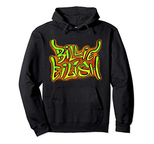 Billie Eilish Official Graffiti Logo Pullover Hoodie