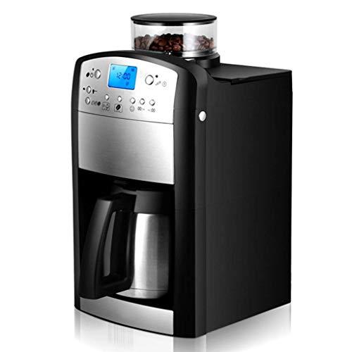 Cafetera automática de grano a taza, cafetera de goteo, hogar, oficina, comercial, puede contener 5-10 tazas (negro)