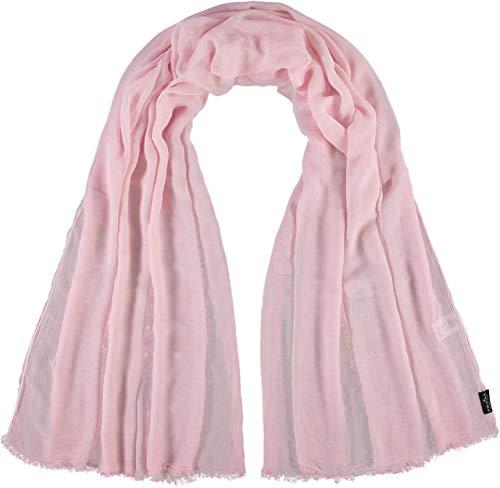 FRAAS Damen-Schal aus 100% Viskose - 100 x 200 cm Größe - Modische einfarbige Stola mit Fransen - Perfekt für den Frühling und Sommer Rosafarben
