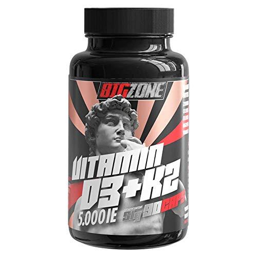 Big-Zone Vitamin D3 + K2 + MG Magnesium | 90 hochdosierte Kapseln | 5.000 I.E. / nur eine Kapsel alle 5 Tage | VITAMIN DEPOT | Sport Supplement Nahrungsergänzung