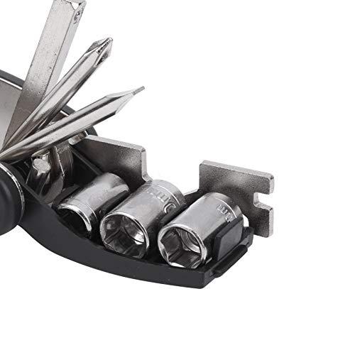 SHYEKYO Kit de reparación de neumáticos de Bicicleta, Palanca de neumáticos 16 en 1 Multifuncional para Problemas de conducción