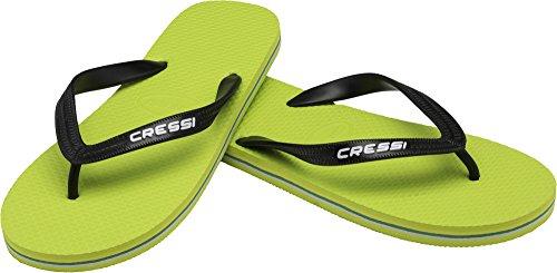 Cressi Beach Flip Flops, Ciabatte Infradito per Spiaggia e Piscina Unisex, Lime/Nero, 45/46