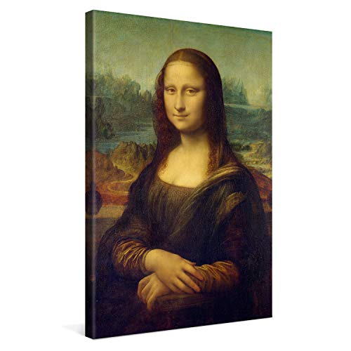 PICANOVA – Leonardo da Vinci – Mona Lisa 40x60cm – Cuadro sobre Lienzo – Impresión En Lienzo Montado sobre Marco De Madera (2cm) – Disponible En Varios Tamaños – Colección Arte Clásico