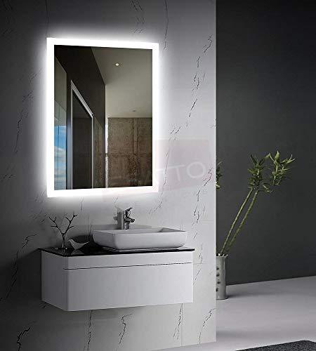 Esatto Espejo led Touch para baño 80 x 60 cms luz Neutra EL8060A Envío Gratis