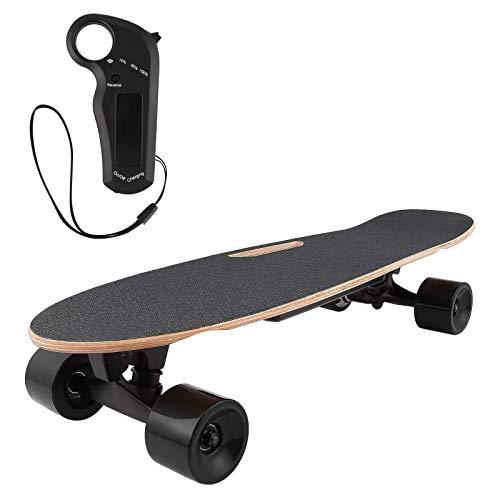 DZLXY Elektrisches Skateboard mit Fernbedienung 20KM, 7 Schichten Kanadischer Ahorn E-Skateboard für Kinder Mädchen Jungen Teens Erwachsene Jugendliche