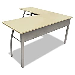 Trento Line L-Shaped Desk, 59-18w x 59-18d x 29-12h, Oatmeal