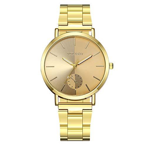 Förderung Damen Classic Quartz Armbanduhr Einzigartige Minimalism Mode Damenuhr Analog Ultradünne Uhren Gold für Frauen Geschenk 2019 LEEDY