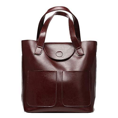 Dames handtas, mode koe leren handtas schoudertas grote capaciteit dames tas, geschikt voor werk reizen winkelen