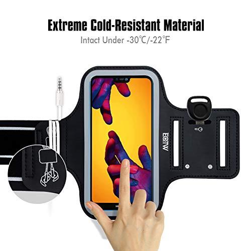 EOTW Sportarmband Handyhülle Kompatibel mit Huawei P20/ P20 Lite/ P30, Handytasche Sport für Joggen Laufen Schwarz - 3