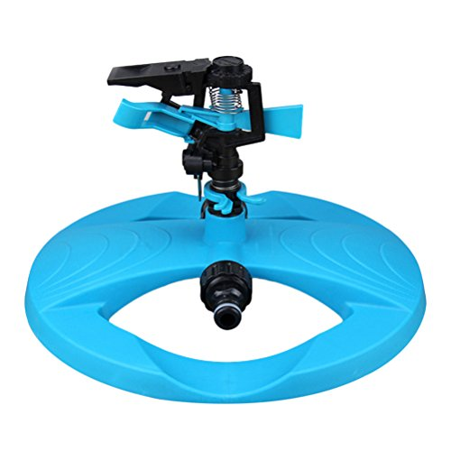 Zhhlinyuan Garden Lawn Automatic Irrigation Nozzles System,360° Fully Circle Rotating Water Sprinkler