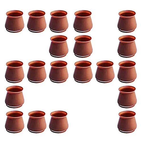 Didad Protectores de Silicona para Patas de Sillas, 24 Paquetes Mixtos, Incluyen Fundas de Silicona para Patas para Muebles de TamaaO PequeeO y Grande