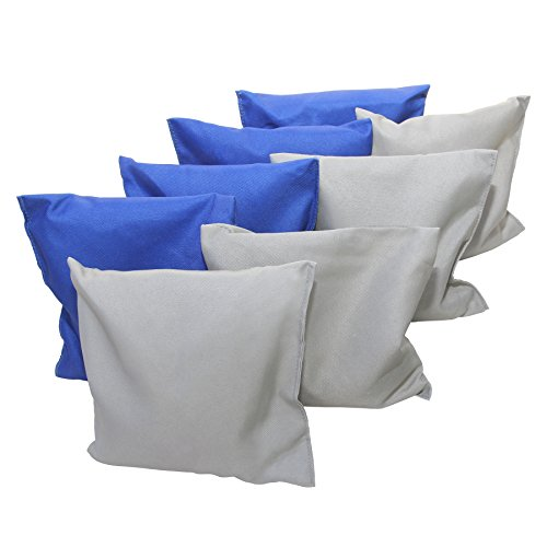 Verus Sports Cornhole or Bean Bag Toss Replacement Bags (4 Blue and 4 Grey)