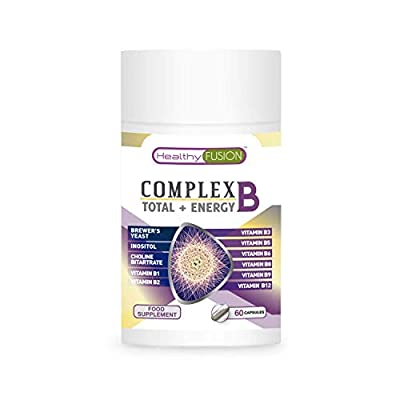 Powerful Vitamin B Complex with Vitamins B1, B2, B3, B5, B6, B9 and B12 | Strengthens The Immune System | Prevents The flu and colds | Provides Energy | Improves Memory Capacity | 60 Capsules