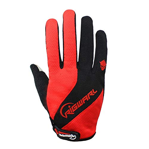 Gel Padded Work Gloves ,Design Windproof Warm Anti-slip Touch Screen Waterproof Shock Absorption, For Bicycles Skateboards Parkour Climbing Outdoor Cycling Men Women ( Color : Red , Size : Medium )