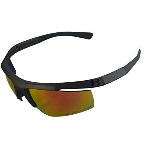 Under Armour UA Core Satin Gray Frame Orange Mirror Lenses Men's Sport Sunglasses