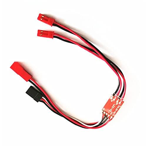NIDUNO 1 pc Double Double Chemin 2A LED Commutateur de contrôleur de lumière pour RC FPV Vol de Nuit de Nuit d'hélicoptère multicoptères