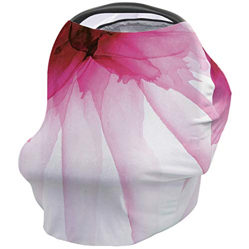 Best Review Of Floral Nursing Cover for Baby Breastfeeding, Soft Breathable Stretchy Carseat Canopy,...