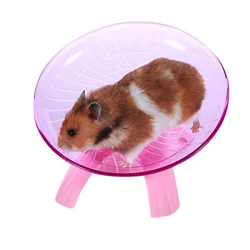 Ogquaton Pet Hamster Fliegende Untertasse Übungsrad Maus Laufscheibe Spielzeug Käfig Zubehör Kreativ und Nützlich