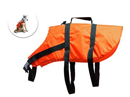 BigDean Hunde-Schwimmweste Orange Größe M für Hunde von 8-15 kg - 30-58 cm maximaler Bauchumfang