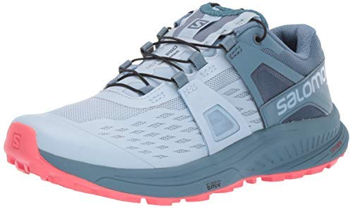 Salomon Women's Ultra Pro Trail Running Shoe, Cashmere Blue/Bluestone/Dubarry, 7.5