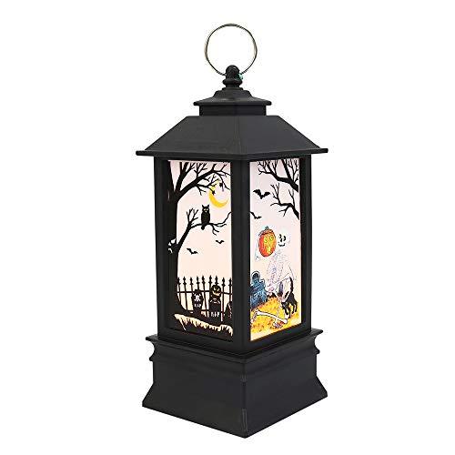 Halloween Decoratie Opknoping Vlam Lamp Lantaarn Simulatie Tafel Flickering Kaars Licht voor Home Party Festival Decoratie