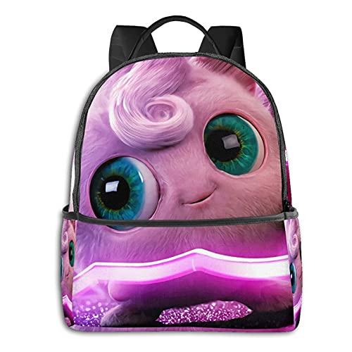 Jigglypuff Mochila casual para la escuela, al aire libre, ligera, resistente al desgarro, mochila para ordenador portátil, mochila para niñas y adultos