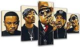FANFF Hip-hop Legend Collage Rapper Canvas Posters - 5 Piece Poster - Wall Art Print - Image Printed - Art on Canvas - Art Print Images