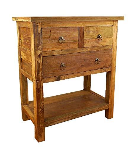 livasia Java Kommode aus Teakholz | Sideboard Asiatisch | Highboard der Marke Asia Wohnstudio | Massivholzkommode (Handarbeit)