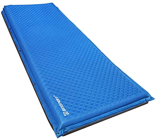 Bessport Camping Sleeping Mat, Self Inflating Pad 5cm Thick Light 1 Person Camping Sleeping Mattress For Hiking, Backpacking, Outdoor