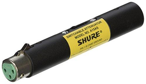 Shure A15AS Switchable Attenuator (15, 20, 25 dB), Passes Phantom Power