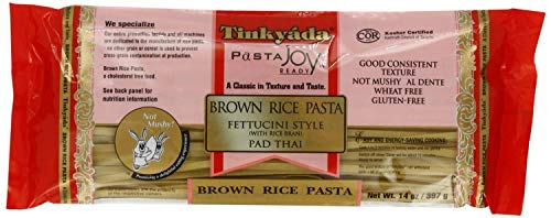 Four Pack Tinkyada Brown Rice Fettucini Gluten Free, 14-Ounce