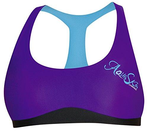 Camaro Bikini Top Aqua Skin - Parte de Arriba de Bikini para Mujer, Color Violeta, Talla M