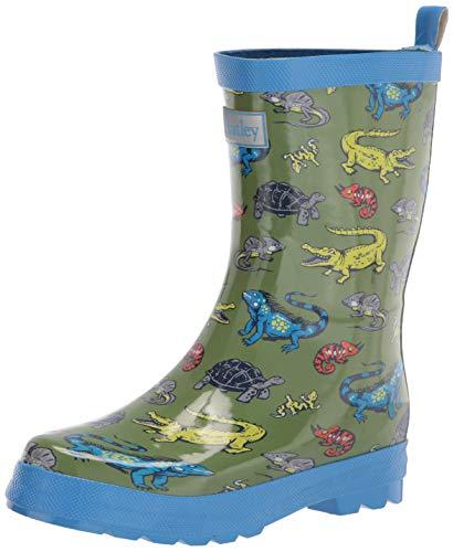 Hatley Boy's Rain Boot, Aquatic Reptiles, 1 Little Kid
