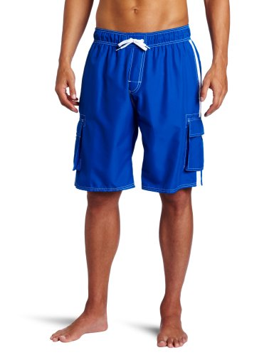 Kanu Surf Men's Barracuda Swim Trunks (Regular & Extended Sizes), Royal, Small