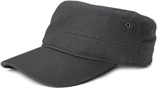 styleBREAKER Cap im Military-Stil aus robustem Baumwollcanvas (Anthrazit)