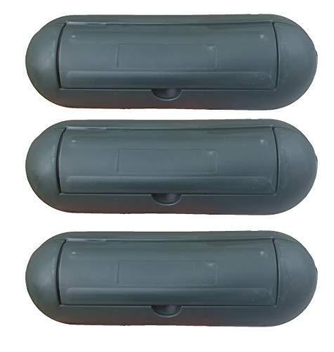 3x caja de seguridad schuko macho verde–Caja de seguridad para enchufe Verde–Caja de seguridad para lluvia nieve caja Schuko Cable