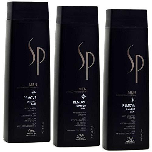 Wella 3 er Pack Wella SP Men Remove Shampoo 250 ml