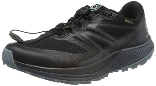 Salomon Sense Escape 2 GTX W, Zapatillas de Trail Running para Mujer, Negro (Black/Ebony/Lead), 37 1/3 EU